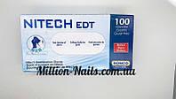 Перчатки латексные Nitech  размер L ( 100 шт в упаковке), фото 1