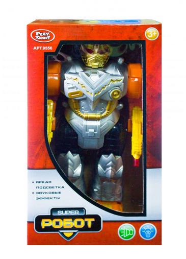 Детский игрушечный робот с оружием.Детская игрушка робот с звуковыми и световыми эффектами.
