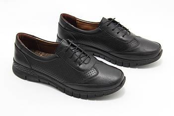 Черные кожаные кроссовки Doren 20106-000-siyah