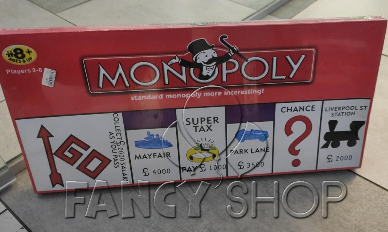 """Гра настільна """"МОНОПОЛІЯ"""", англ., Настольная игра """"Monopoly"""""""