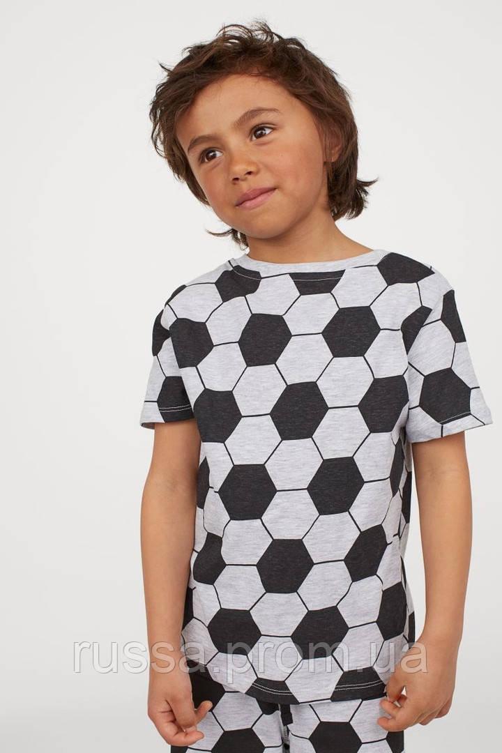 Классная трикотажная футболочка Футбол НМ для мальчика