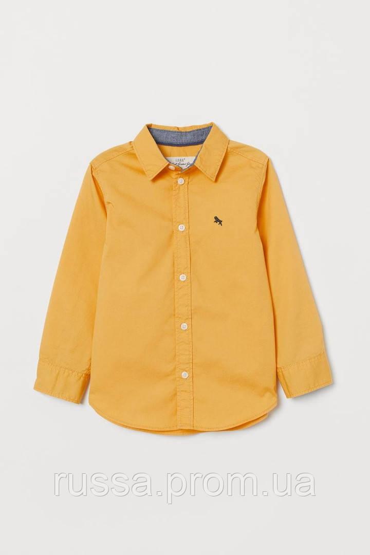 Модная поплиновая рубашка желтого цвета НМ для мальчика