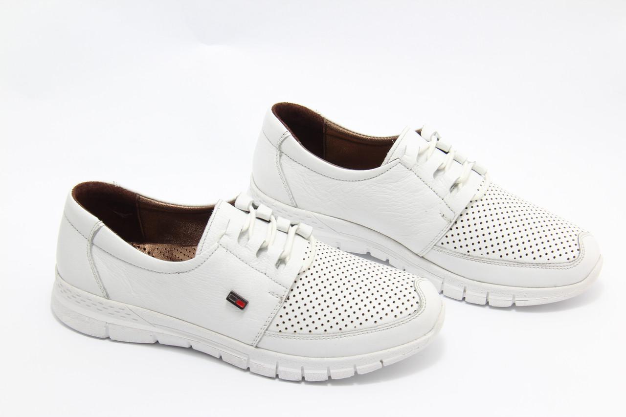 Білі шкіряні кросівки Doren 20115-007-beyaz