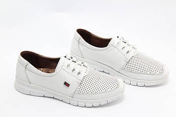 Белые кожаные кроссовки Doren  20115-007-beyaz