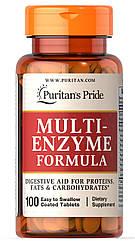 Ферменты энзимы Puritan's Pride Multi Enzyme (100 табл) пуританс прайд