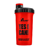 "Шейкер спортивный Olimp Shaker ""YES I CAN!"" (700 мл) олимп red"