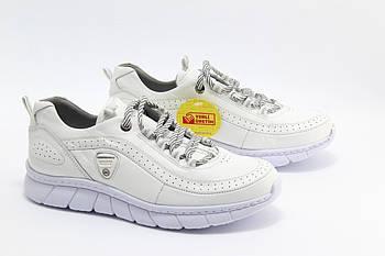 Кожаные женские кроссовки Mammamia D20YA-320LX-BEYAZ-FABER