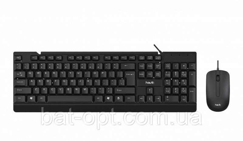 Компьютерный комплект клавиатура + мышь проводные Havit HV-KB272CM USB черная