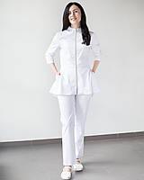 Медицинский женский костюм Мишель (белый), фото 1