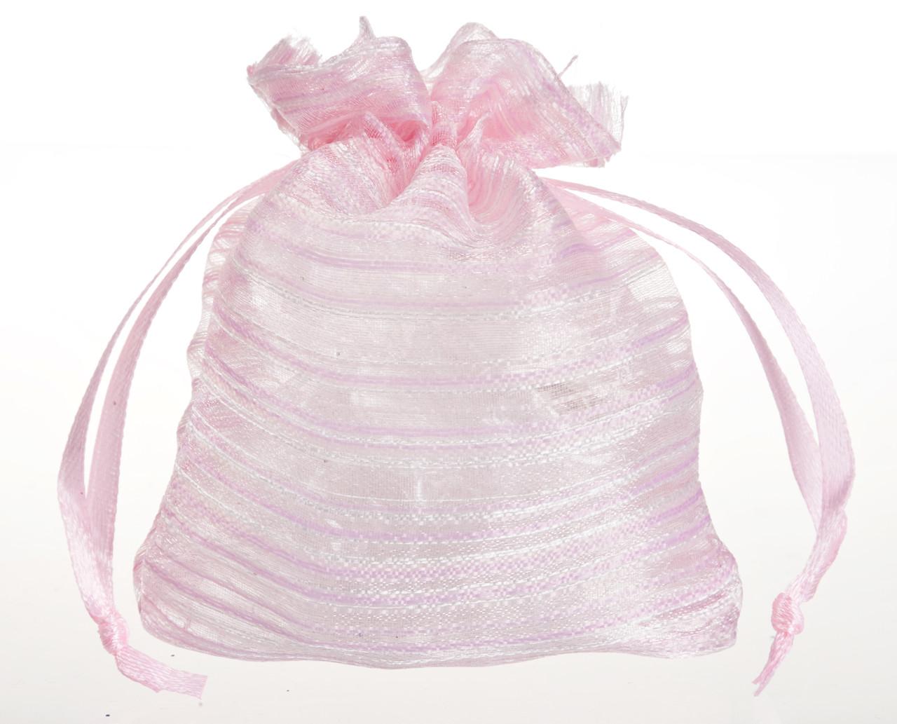 Мешочек органза розовый №152