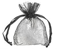 Мешочек органза черный №154