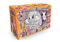 Стильный набор для девочек: сумочка-раскраска Royal pet's: 5 в 1 (с питомцем)