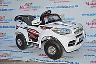 Детский Электромобиль Джип BMW x8 белый на надувных колесах на р/у, без колпаков
