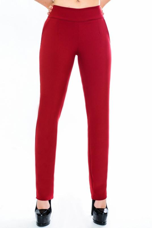 Женские брюки цвета марсала