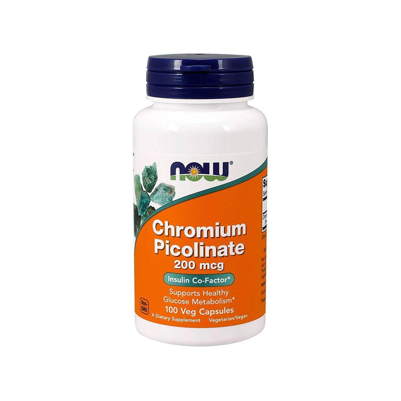 Хром NOW CHROMIUM PICOLINATE 200 mg (100 caps)