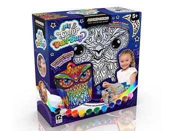 My Color Owl-Bag - набор креативного творчества для девочек: сумочка-раскраска
