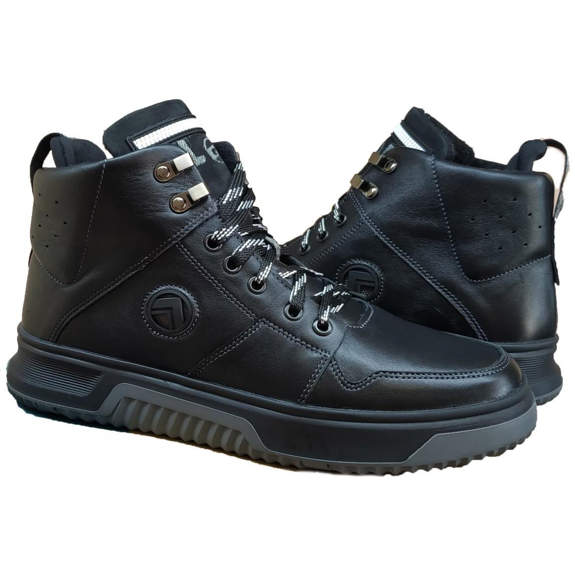 Зимние мужские ботинки на меху   40-45 денвер черный