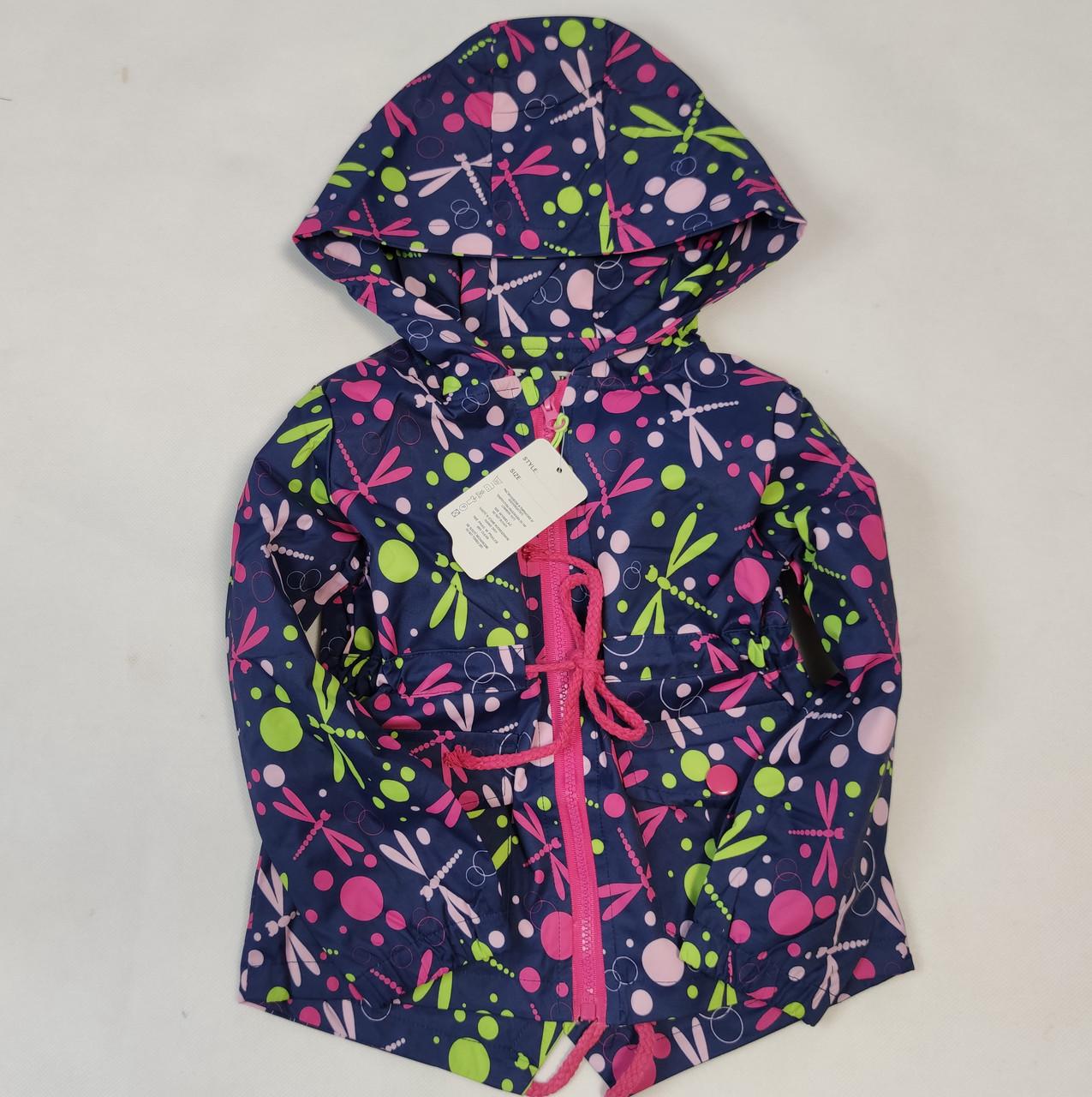 демисезонная курточка синего цвета для девочки