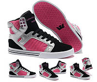 Женские кроссовки Supra TK pink-black