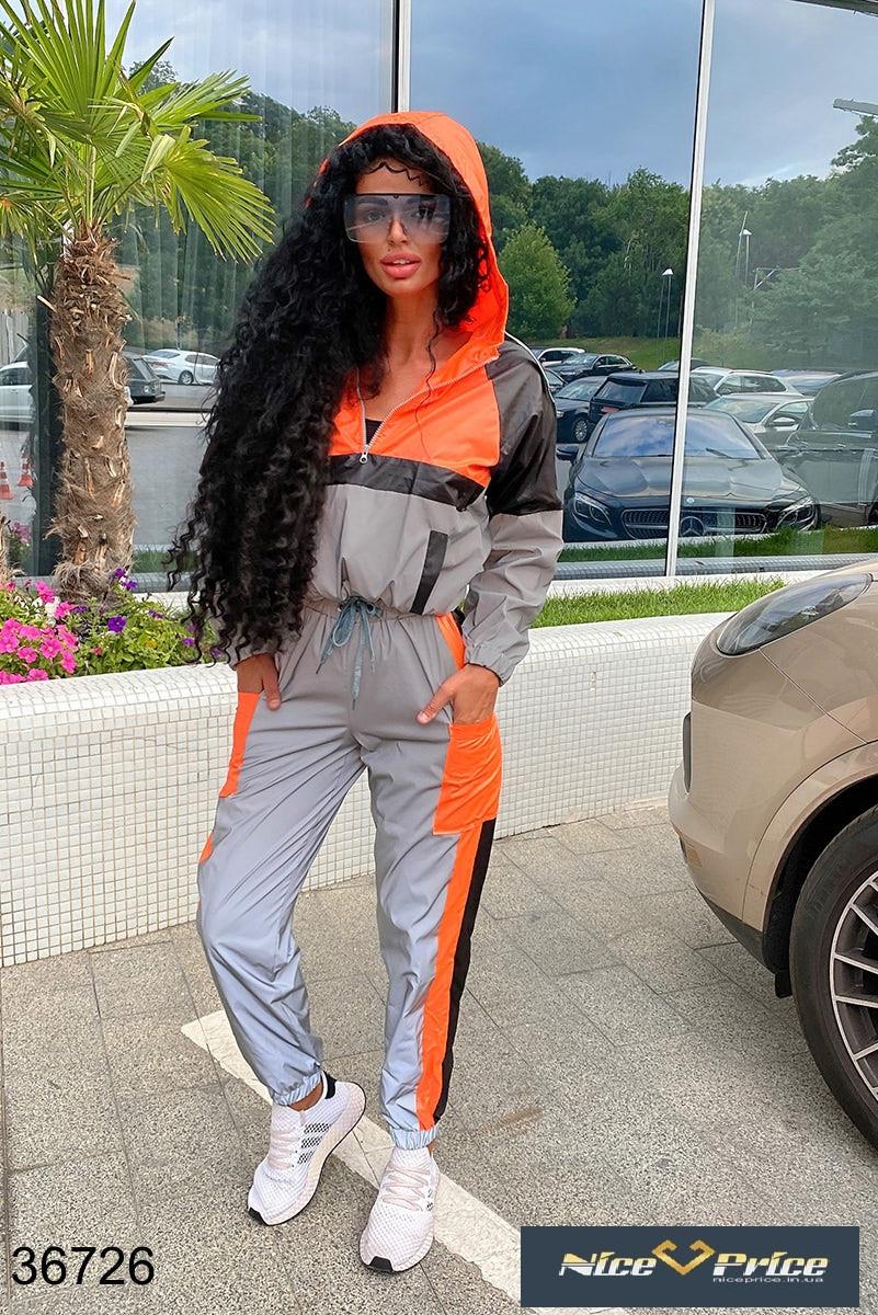 Модный Спортивный костюм женский,плащевка 42-44 46-48 50-52