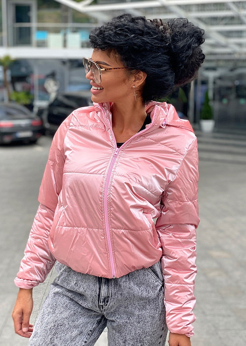 Стильная водоотталкивающая короткая женская куртка 42-44,46-48 50-52 54-56