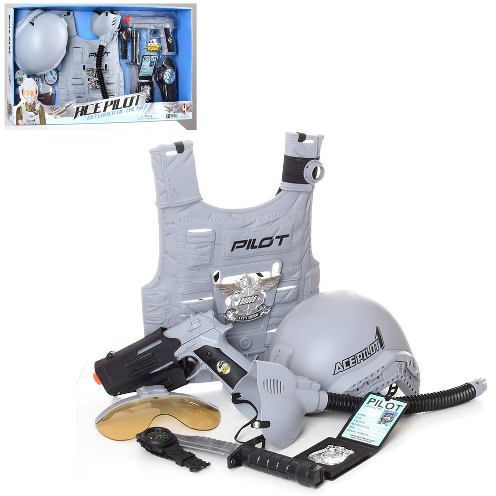 Игровой набор оружия с бронежилетом Pilot арт. A006