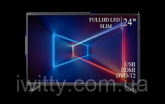 "Телевизор Sharp Шарп 24"" СМАРТ приставка в ПОДАРОК FullHD/DVB-T2/USB"