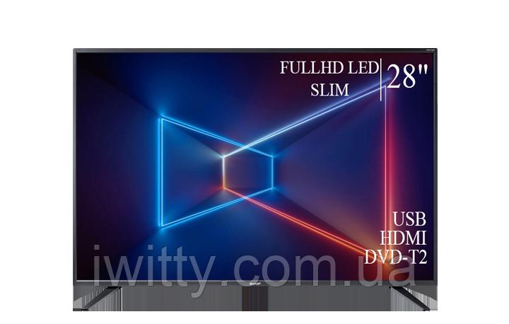 "Телевизор Sharp Шарп 28"" FullHD/DVB-T2/USB"