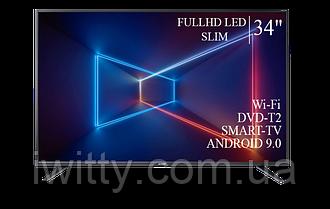 "Телевизор Sharp Шарп 34"" Smart-TV/FullHD/DVB-T2/USB Android 9.0"