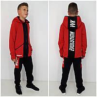 Теплый спортивный костюм EVOLUTION красный 90% хлопок, фото 1