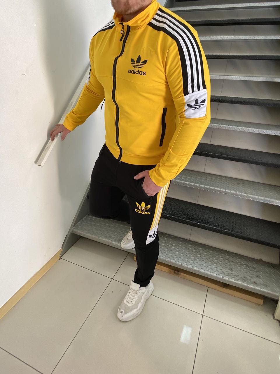Бренди осінь 2020! Чоловічий костюм Adidas. Розміри з м л хл ххл. Тканина турецька двухнить.