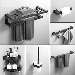 Аксесуари для ванної. Йоржик, тримач для рушників, гачки, полички. Модель RD-9190
