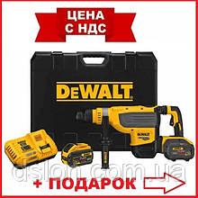 Перфоратор аккумуляторный DeWALT DCH733X2 бесщёточный, SDS MAX, 54 В, 13.3 Дж, 2 режима, чемодан, вес 9.75 кг
