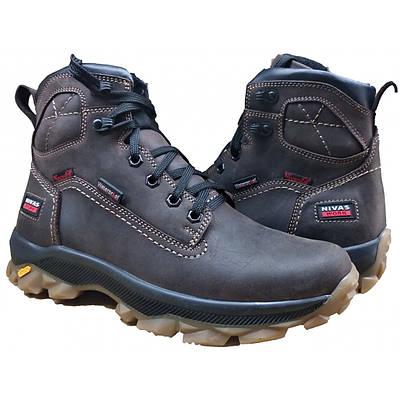 Зимние мужские ботинки   кожаные на меху 40-45 крейзи коричневый