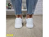 Кроссовки форсы на высокой платформе белые К2249, фото 5