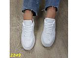 Кроссовки форсы на высокой платформе белые К2249, фото 7
