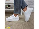 Кроссовки форсы на высокой платформе белые К2249, фото 6