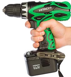 Шуруповерт Hitachi DS14DVF3 14,4 Ст. (Оригінал, Японія) + ліхтарик. 2 батареї. Гарантія від виробника 3 роки