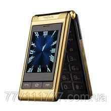 Телефон кнопочный с мп3, блютузом и мощной батареей на 2 симки Tkexun G10 gold 2G