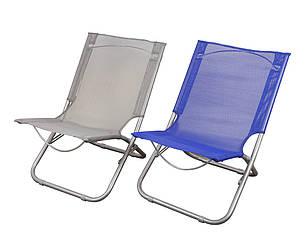 Пляжний складаний стілець для приємного відпочинку на морі колір сірий GP20022303 GRAY