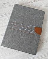 """Универсальный чехол-книжка для планшета 10 дюймов (10"""") Jeans 360 серый"""