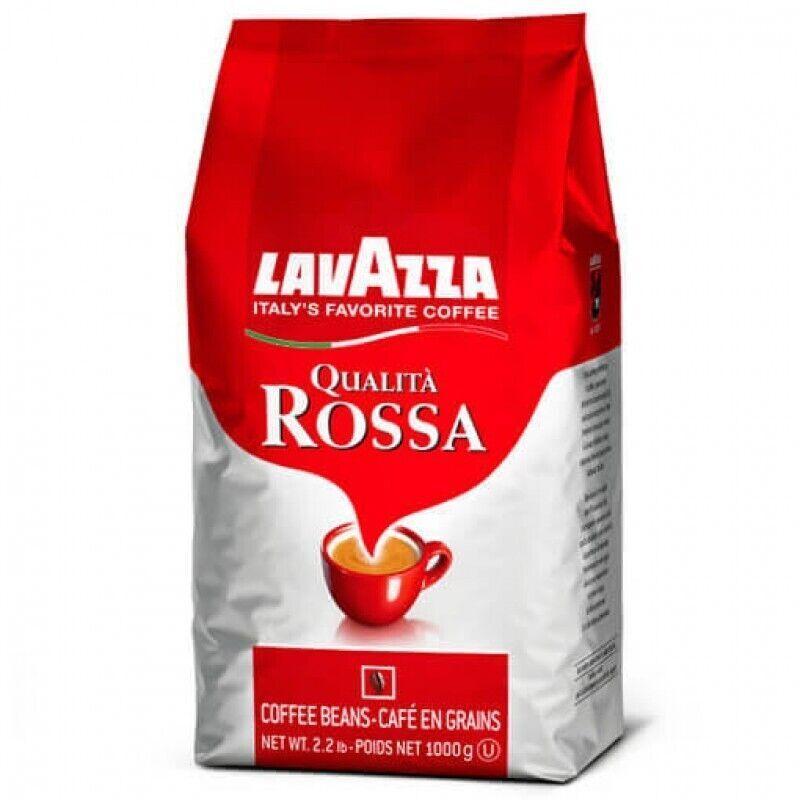 Кофе в зернах зерновой Lavazza Qualita Rossa 1 кг Лавацца Оригинал EU