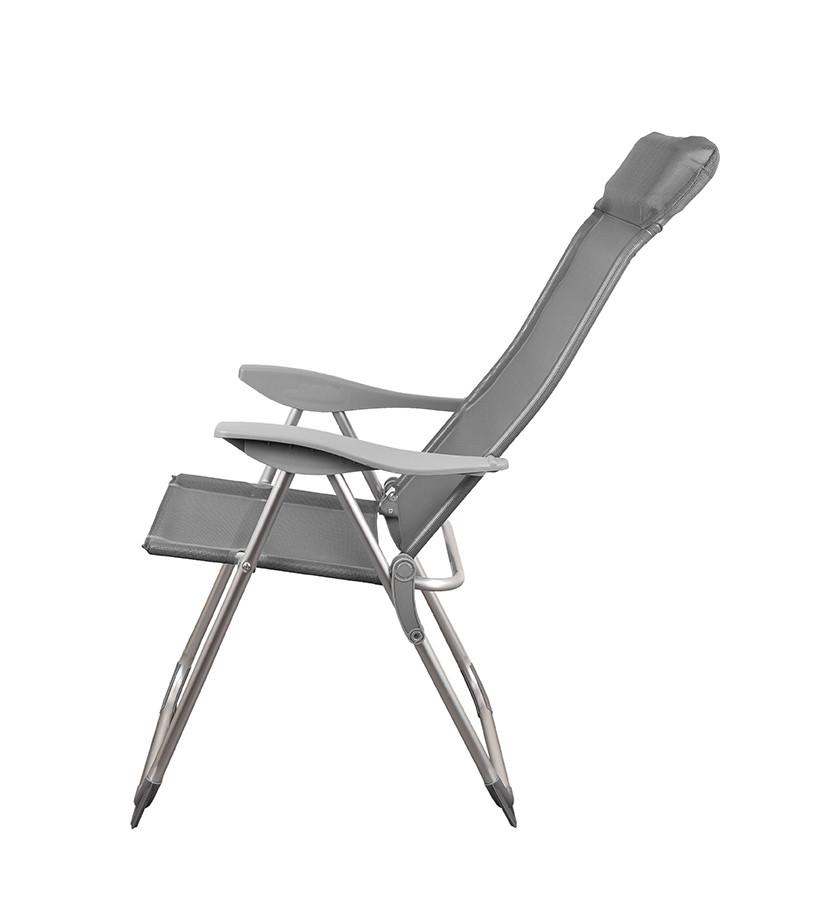 Складной шезлонг кресло для отдыха пикника на море цвет серый GP20022010 GRAY