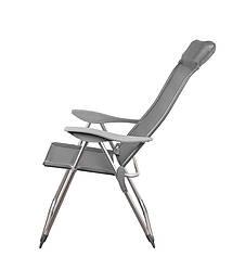 Складной шезлонг крісло для відпочинку пікніка на море колір сірий GP20022010 GRAY