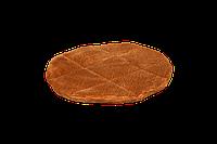 Подушка-лежак (поролон) для кошек и собак Мур-мяу круглая 40 см Коричневая