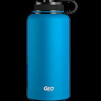 Нержавіюча пляшка/термос з покриттям, 0,95 л, Блакитна