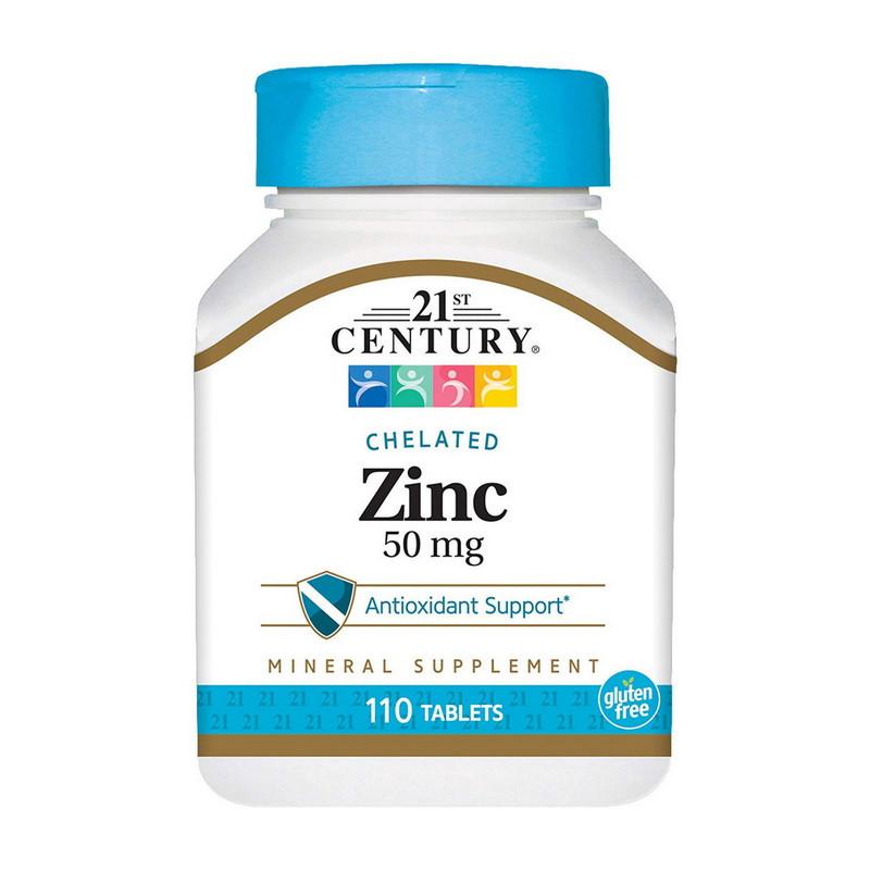 Цинк 21st Century Chelated Zinc 50 mg 110 tabs