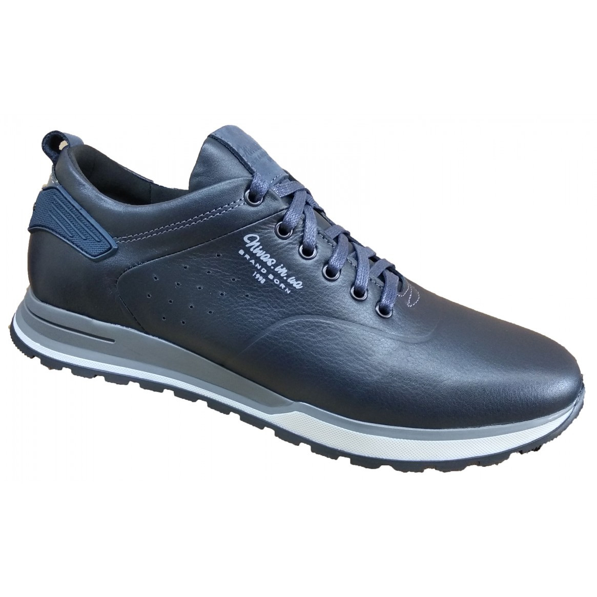 Спортивні туфлі чоловічі шкіряні 40-45 синій тайфун