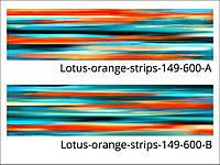 Стеклянная плитка для кухни, ванной, гостинной Lotus-Orange-Strips