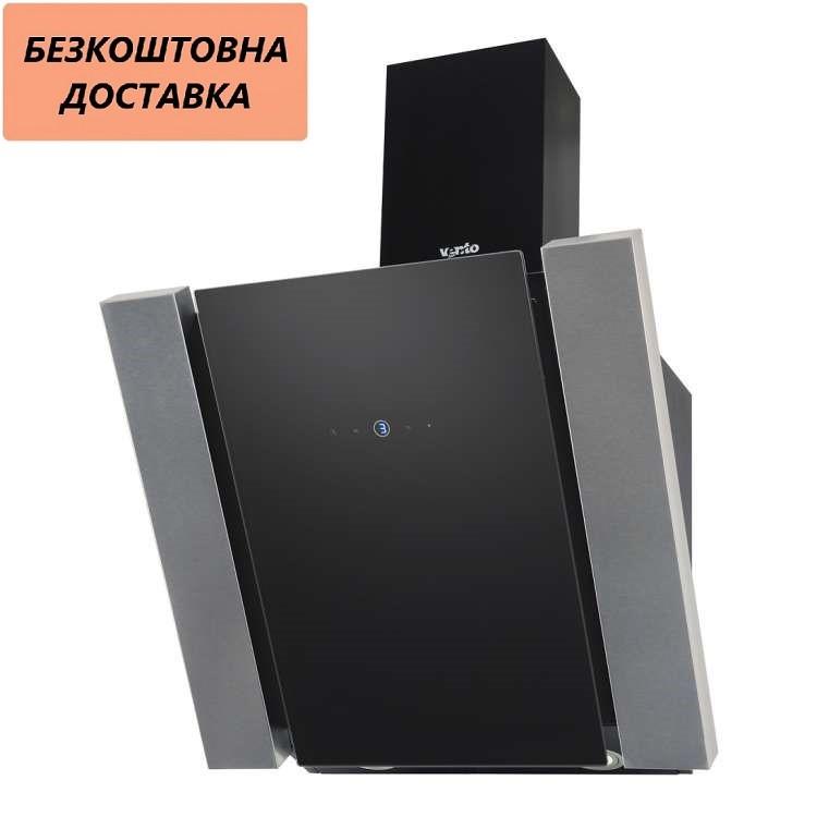 Кухонная вытяжка Ventolux VITTO 60 BK (1000) TRC MM Наклонная, Нержавеющая сталь, Стекло